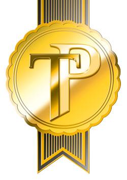 TravelPlus-Rosette-Gold